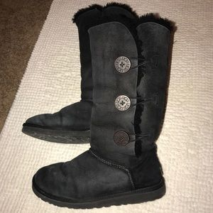 UGG Tall Bailey Button Boots size 9